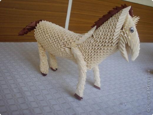 Оригами модульное: Лошадь фото 2