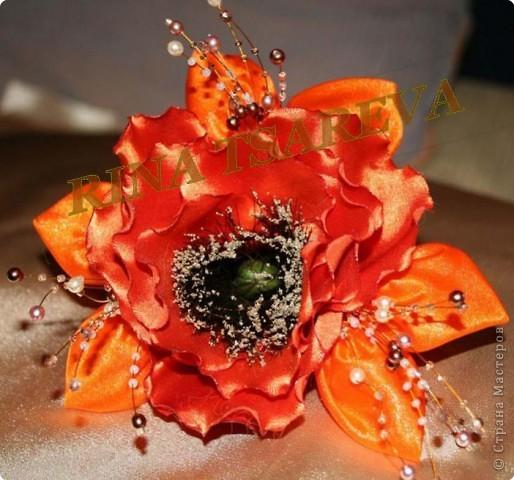 Шелковые цветы фото 10