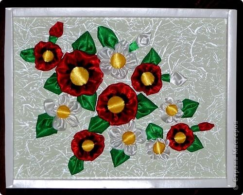 Цветы из ленты фото 1