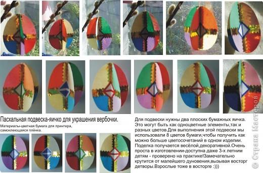 Аппликация: Пасхальная подвеска-яичко для украшения вербочки.