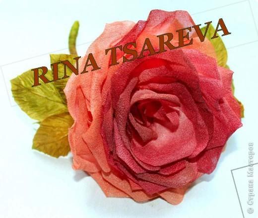 Розу из ткани цветы фото