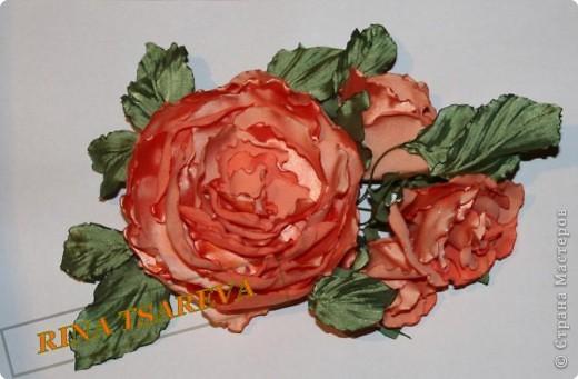 Шелковые цветы фото 24