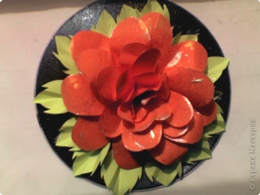 Роза, выполненная на диске фото 1