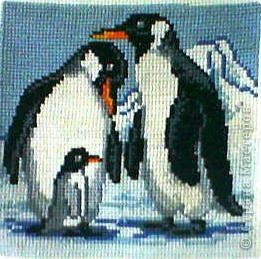 Пингвины. Вышивали вместе с детьми фото 1