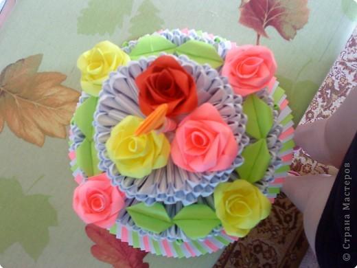 Оригами модульное: Тортик маме на день рождения за 10 часов фото 2