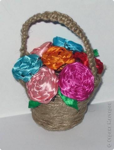Спиральное плетение. Цветы из ленточек
