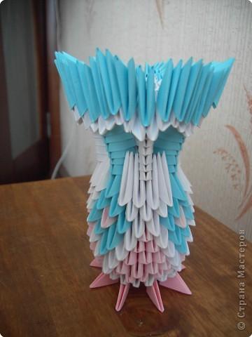 Оригами модульное: Вазочка фото 3