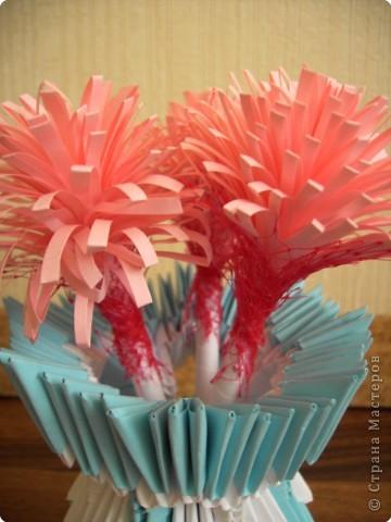 Оригами модульное: Вазочка фото 9