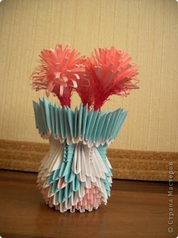 Оригами модульное: Вазочка фото 10