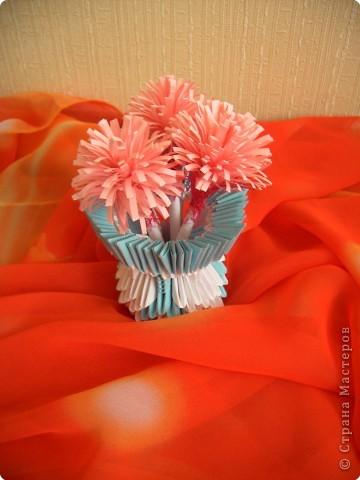 Оригами модульное: Вазочка фото 11