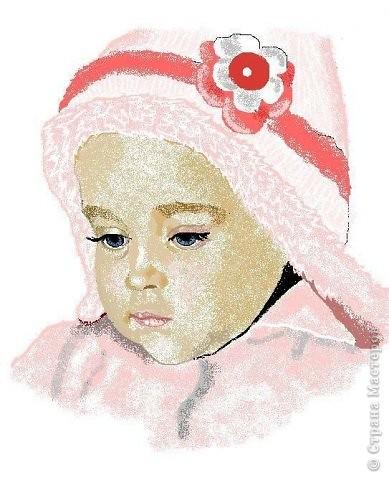 Рисунок в примитивном пэйнте.Это моя крошка Настенька. фото 1