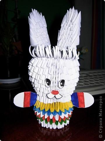 Оригами модульное: Зайчик-побегайчик
