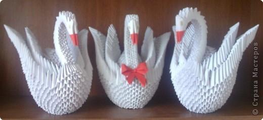 Оригами модульное: Еще лебеди))))))