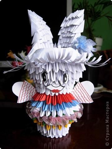 Оригами модульное: Зайка лапонька