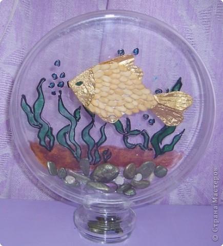 Аппликация: Золотая рыбка фото 1
