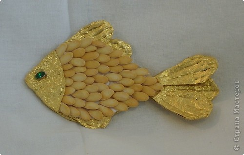 Аппликация: Золотая рыбка фото 2