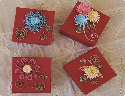 Квиллинг: Коробочки для подарков