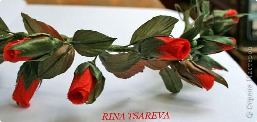 Украшение Шелковые цветы в японской технике цветоделия Ткань фото 1