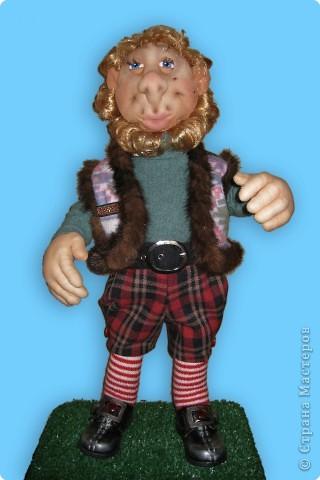 Гном Физалис - добрейшее создание. Он как и все мои кукы вполнен в технике скульптурного текстиля.