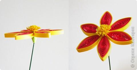 Квиллинг: Мастер класс: как сделать красивый цветок. фото 24