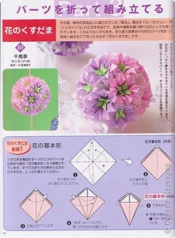 Добрый вечер всем! Мои руки давно к этой кусудаме просились :) Она была создана по схеме (см. ниже) из японского журнала, который я нашла в Инете. фото 2