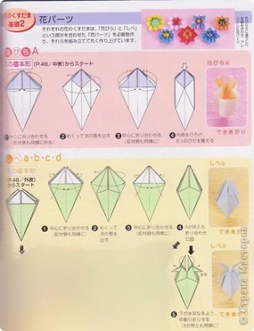 Добрый вечер всем! Мои руки давно к этой кусудаме просились :) Она была создана по схеме (см. ниже) из японского журнала, который я нашла в Инете. фото 3