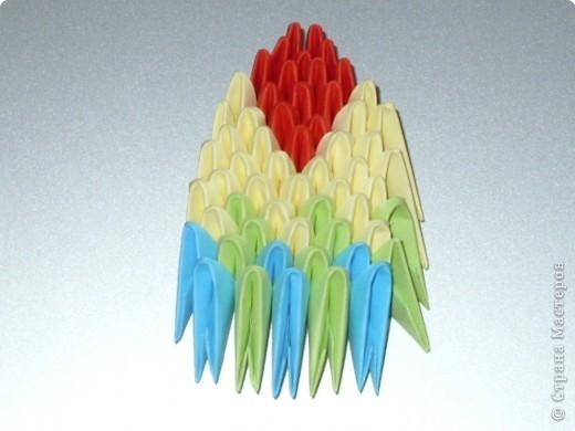 Мастер-класс Оригами китайское модульное МК на изготовление попугайчика Бумага фото 64