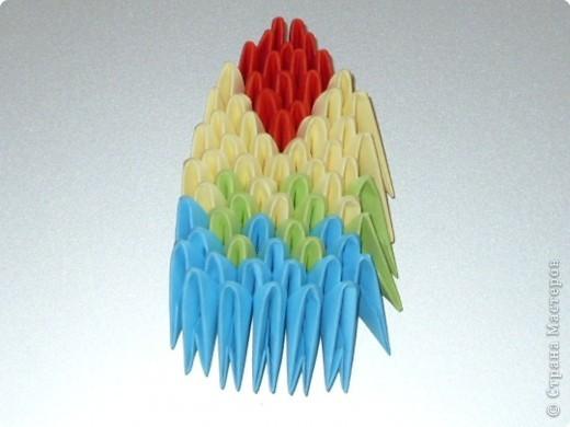 Мастер-класс Оригами китайское модульное МК на изготовление попугайчика Бумага фото 66