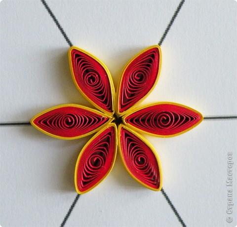 Квиллинг: Мастер класс: как сделать красивый цветок. фото 19