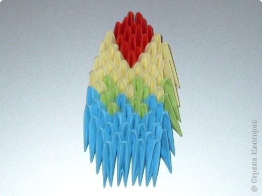 Мастер-класс Оригами китайское модульное МК на изготовление попугайчика Бумага фото 68