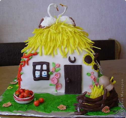 Это тортик-корзинка для моей бабули:) фото 4