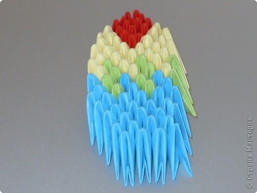 Мастер-класс Оригами китайское модульное МК на изготовление попугайчика Бумага фото 69