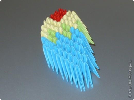 Мастер-класс Оригами китайское модульное МК на изготовление попугайчика Бумага фото 72