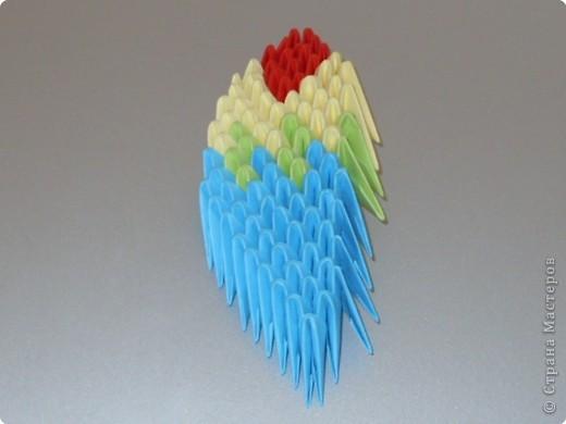 Мастер-класс Оригами китайское модульное МК на изготовление попугайчика Бумага фото 73