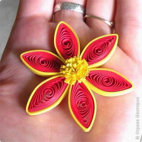 Квиллинг: Мастер класс: как сделать красивый цветок. фото 21