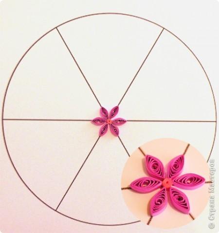 Квиллинг: Мастер класс: как сделать красивый цветок. фото 25