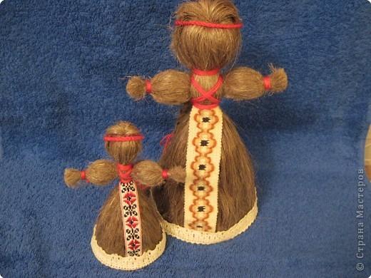Кукла из льняного волокна