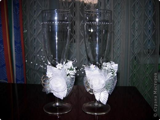 Декупаж: Бокалы на свадьбу фото 2