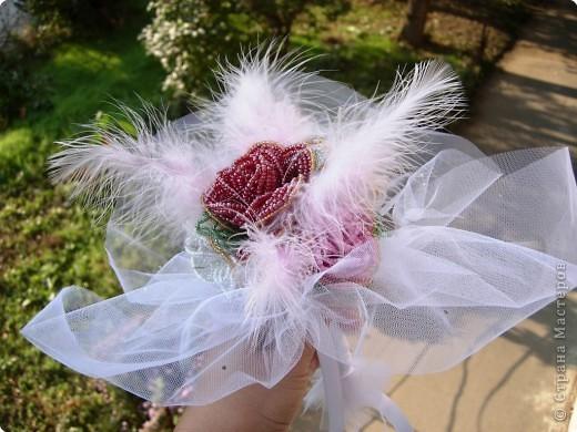 Бисероплетение, Коллаж: Букет невесты фото 2