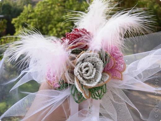 Бисероплетение, Коллаж: Букет невесты фото 1
