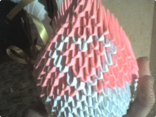 Оригами модульное: Влюбленный лебедь фото 2