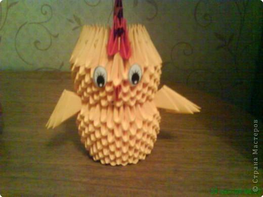 Оригами модульное: Цыплёнок. фото 1