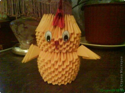 Оригами модульное: Цыплёнок. фото 2
