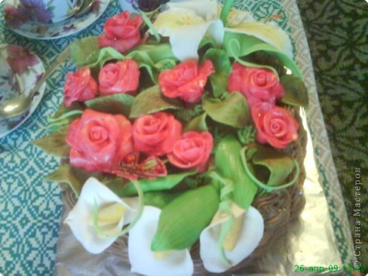 Это тортик-корзинка для моей бабули:) фото 1