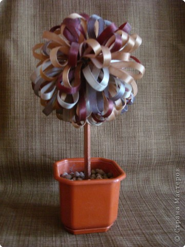 Торцевание на пластилине: Чудо-дерево