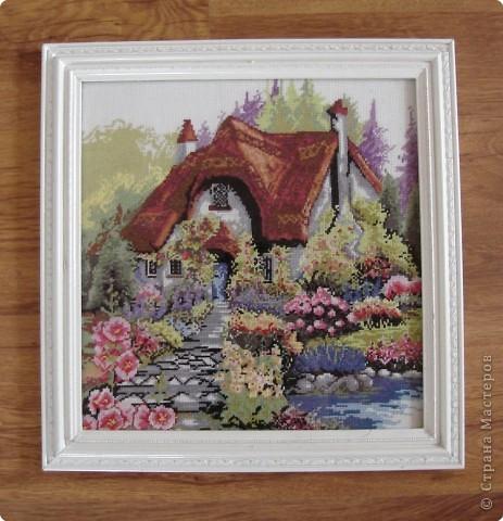 Вышивка крестом: Сказочный домик