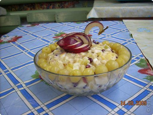 Тема урока: салат фруктовый. Оформление готового блюда. фото 1