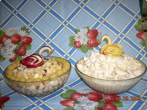 Тема урока: салат фруктовый. Оформление готового блюда. фото 2