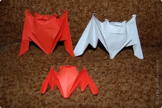 Оригами: летучая мышь