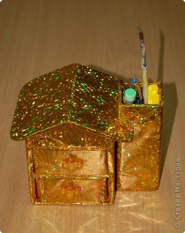 Ящички выдвигаются. Такие домики делали с девочками четвероклассницами. фото 1